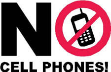 Put away the cell phone!