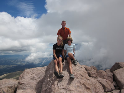 On the summit of Long's Peak